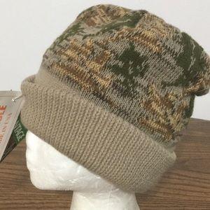 CAMO / ORANGE Reversible Beanie winter ski Cap Hat